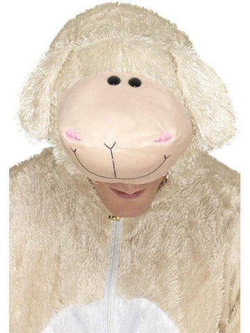 Adult Unisex Lamb Fancy Dress Costume Cream