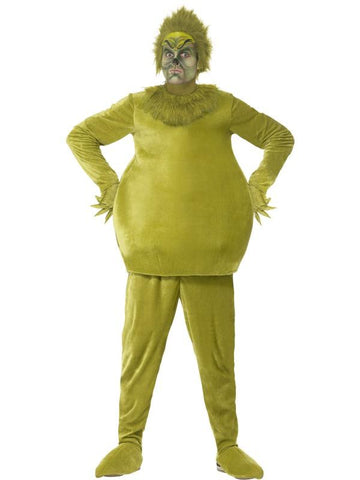 Adult Unisex The Grinch Fancy Dress Costume Green