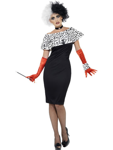 Women's Evil Madame Fancy Dress Costume Black