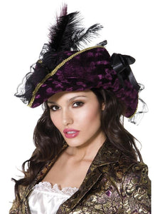 Women's Fever Marauding Pirate Hat Purple