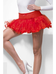 Women's Tulle Petticoat Red