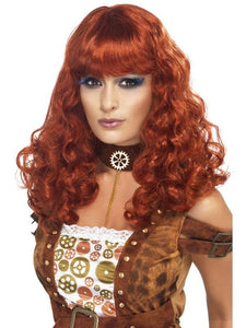 Women's Steam Punk Female Wig Auburn