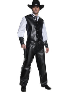 Men's Authentic Western Gunslinger Fancy Dress Costume