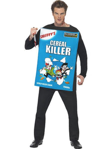 Men's Cereal Killer Fancy Dress Costume Blue