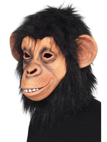 Adult Unisex Chimp Mask Black