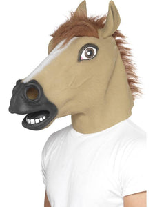Adult Unisex Horse Mask Brown