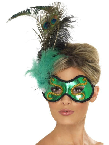 Emerald Peacock with Side Feather Detail,  Ladies