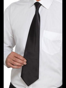 Men's Deluxe Black Gangster Tie Black