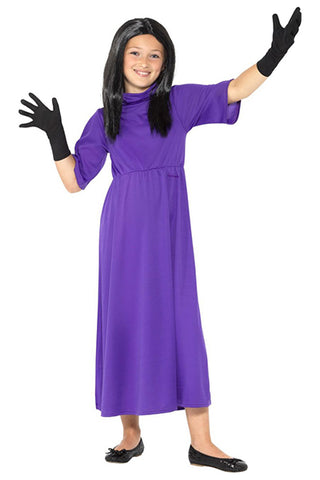 Girl's Roald Dahl Deluxe The Witches Fancy Dress Costume Purple
