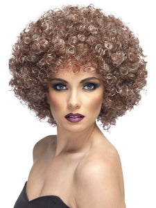 Women's 70's Natural Afro Wig, Blonde & Brown