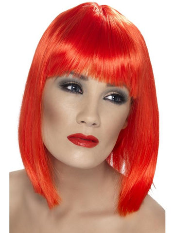 Women's Glam Wig Neon red