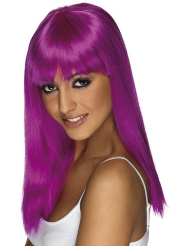 Women's Glamourama Wig Neon purple