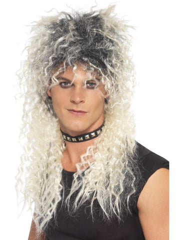 Men's Hard Rocker Wig, Two Tone Blonde