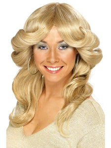 Women's 70s Flick Wig Blonde