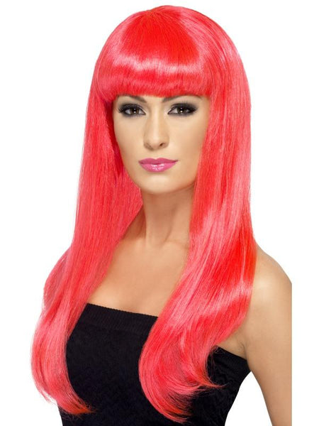 Women's Babelicious Wig Neon pink