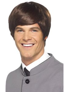 Men's 60s Male Mod Wig Brown