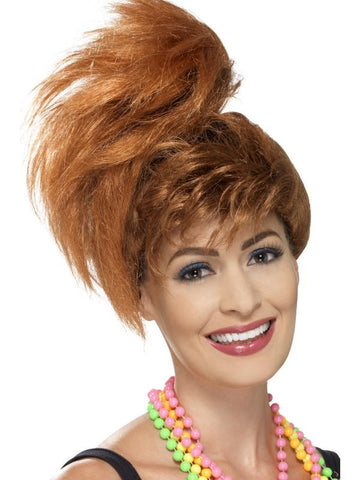 80s Side Ponytail Wig with Fringe