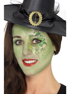 Pretty Witch Make-Up Kit, Face Paints,Tattoo,Gem