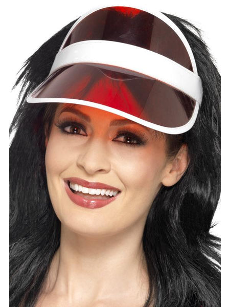 Adult Unisex 80s Sun Visor Red