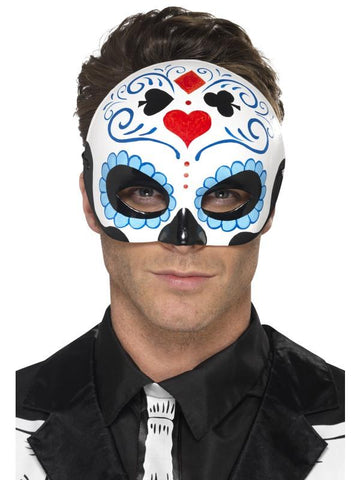 Day of the Dead Eyemask Blue