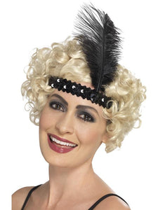 Women's Flapper Headband Black