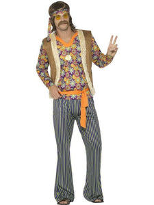 Men's 60s Singer Fancy Dress Costume, Male Multi