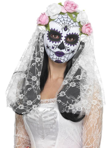 Day of the Dead Bride Mask, Full Face