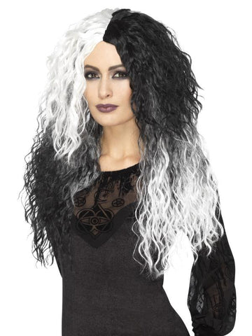 Women's Glam Witch Wig Black & White
