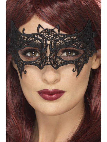 Embroidered Lace Filigree Bat Eyemask