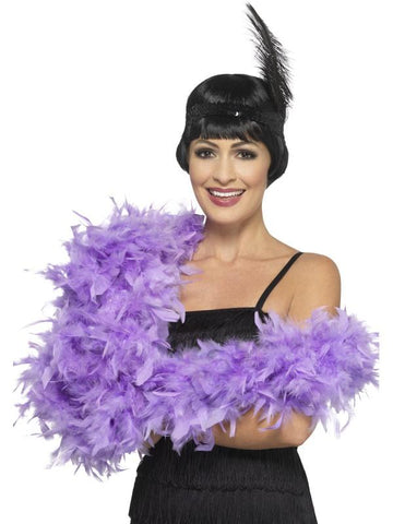 Adult Unisex Deluxe Boa Purple