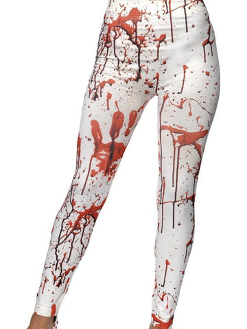 Women's Horror Leggings White