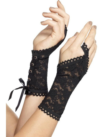 Women's Lace Glovettes Black