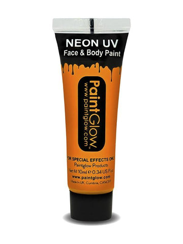 Adult Unisex UV Face & Body Paint Orange