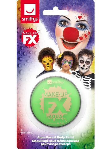 All Unisex Smiffys Make-Up FX, on Display Card Lime green