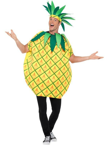Pineapple Tabard Fancy Dress Costume Yellow, Adult