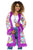 Women's 60s Groovy Hippie Coat Multi