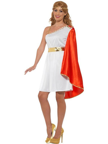 Women's Roman Lady Fancy Dress Costume White&red