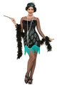 20s Peacock Flapper Fancy Dress Costume,  Women
