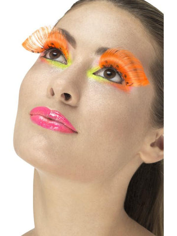 Women's 80s Polka Dot Eyelashes Neon orang