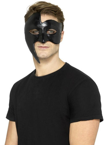 Masquerade Gothic Phantom Mask, Black,