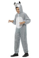 WOLF COSTUME, CHILD, WITH HOODED JUMPSUIT