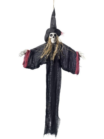 Hanging Witch Skeleton Decoration