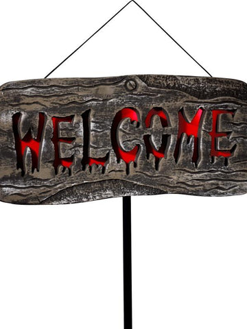 Light Up Welcome Outdoor Sign