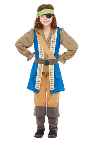 Horrible Histories Pirate Captain Fancy Dress Costume,  Child
