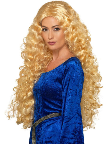 Women's Medieval Warrior Queen Wig Blonde