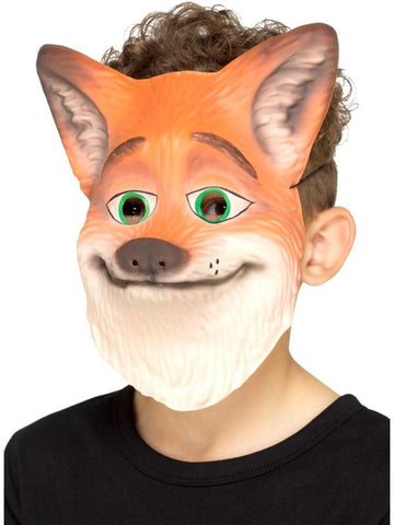 Child Unisex Fox Mask Orange