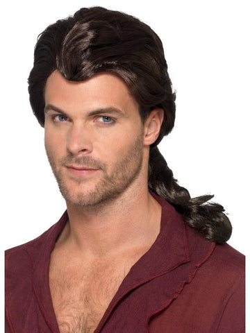 Men's Marauder Pirate Wig Brown