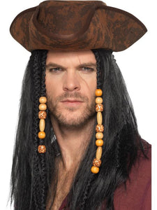 Adult Unisex Pirate Hat Brown