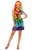 Glitters Rainbow Fancy Dress Costume, Ladies