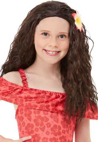 Girls Hawaiian Princess Wig